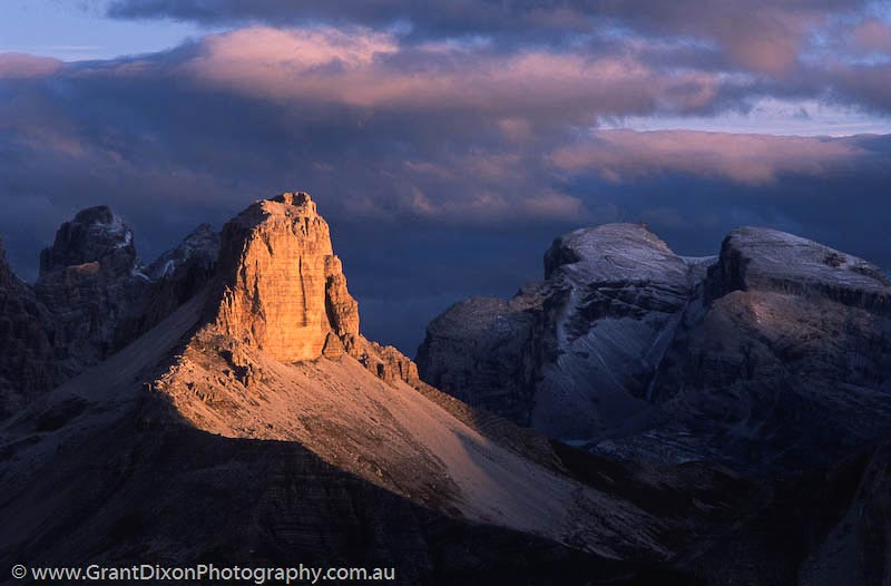 image of Dolomites stormy dawn