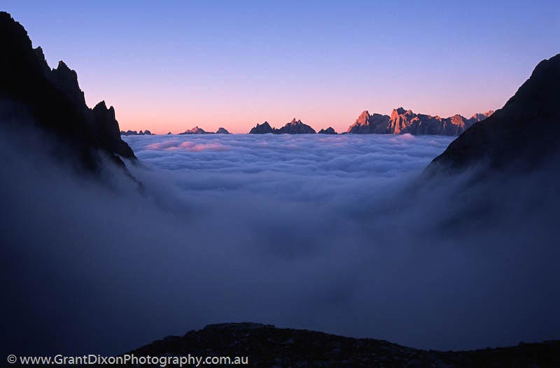 image of Dolomites valley cloud