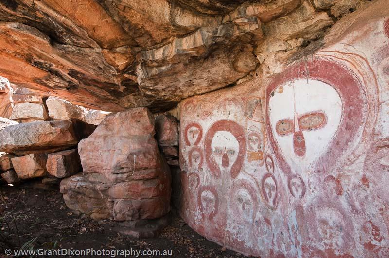 Bachsten creek west kimberley wandjina rock painting photograph by