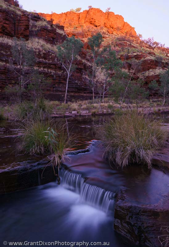 image of Dales Gorge dawn cascade