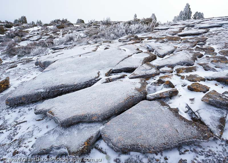 image of Snow-dusted dolerite