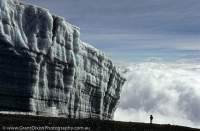 TANZANIA, Mt Kilimanjaro. Ice cliff near summit.