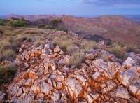 Larapinta Trail, Chewings Range, West Macdonnell National Park, Northern Territory, Australia.