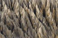 NEPAL. Eroded face of ancient alluvial fan, Mustang.