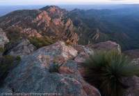 Heyson Range from St Mary Peak (Ngarri Mudlanha, 1170m), Wilpena Pound, Flinders Ranges National Park. Dawn.